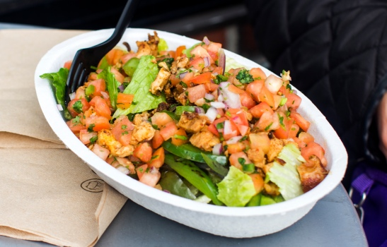 Chicken burrito bowl, from Chipotle Mexican Grill on Marshall St.