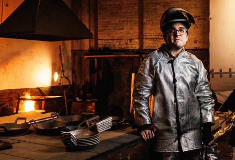 Truex, former industrial design professor at Syracuse University, first became infatuated with large-scale iron casting while studying sculpture at the University of Tennessee.