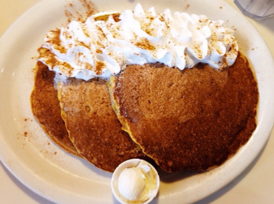 Pumpkin pecan pancakes from Nestico's Too.