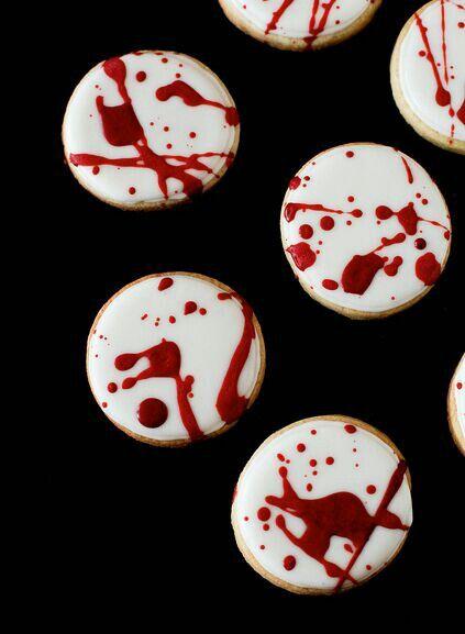 Blood Splattered Cookies -Pinterest -1