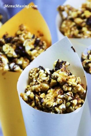 Popcorn cones- menumusings.blogspot.com