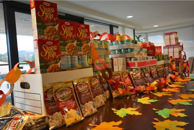Donated-Food-Thanksgiving